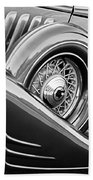 1933 Pontiac Spare Tire -0431bw Beach Towel