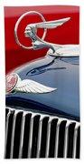 1933 Pontiac Street Rod Hood Ornament Beach Towel
