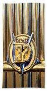 1933 Stutz Dv-32 Five Passenger Sedan Emblem Beach Towel