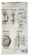 1933 Watch Case Patent Drawing  Beach Sheet