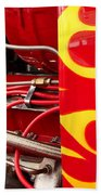 Hot Rod Art Work And Engine Beach Towel