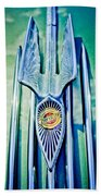 1934 Chrysler Airflow Hood Ornament 2 Beach Sheet
