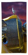 1934 Packard With Posterized Edge Texture Beach Towel
