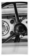 1935 Auburn 851 Supercharged Boattail Speedster Steering Wheel -0862bw Beach Towel