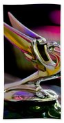 1935 Chevrolet Hood Ornament 2 Beach Towel