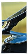 1935 Chevrolet Sedan Hood Ornament 2 Beach Towel