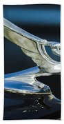 1935 Chevrolet Sedan Hood Ornament Beach Towel by Jill Reger