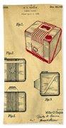 1935 Kodak Camera Casing Patent Beach Towel