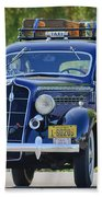 1935 Plymouth Taxi Cab Beach Towel