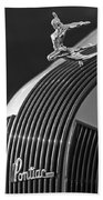 1935 Pontiac Sedan Hood Ornament 3 Beach Towel