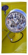 1936 Ford Pickup Headlamp Beach Towel