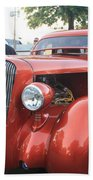 1936 Plymouth Two Door Sedan Front And Side View Beach Towel