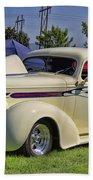 1936 Pontiac Hood Ornament Beach Towel