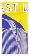1937 - Plymouth Automobile Advertisement - Color Beach Towel