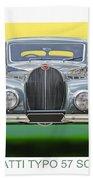 1937 Bugatti 57 S C Atalante Beach Towel