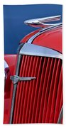 1937 Chevrolet Hood Ornament Beach Towel by Jill Reger