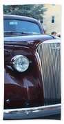 1937 Chevy Two Door Sedan Front And Side View Beach Towel