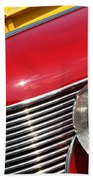 1937 Desoto Front-7262 Beach Towel