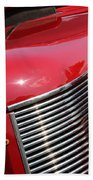 1937 Desoto Front Grill And Head Light 7285 Beach Towel