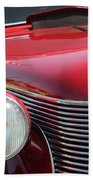 1937 Desoto Front Grill And Head Light-7289 Beach Towel