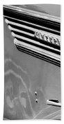 1937 International D-2 Station Wagon Side Emblem Beach Towel