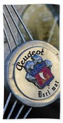 1937 Peugeot 402 Darl'mat Legere Special Sport Roadster Recreation Steering Wheel Emblem Beach Towel