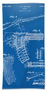 1937 Police Remington Model 8 Magazine Patent Artwork - Blueprin Beach Towel
