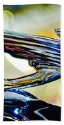 1938 Cadillac V-16 Hood Ornament 2 Beach Towel by Jill Reger