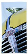 1938 Chevrolet Coupe Hood Ornament -0216c Beach Towel