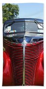 1938 Ford Two Door Sedan Front View Beach Towel