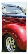 1938 Ford Two Door Sedan Beach Towel