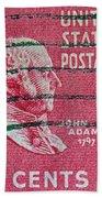 1938 John Adams Stamp Beach Towel