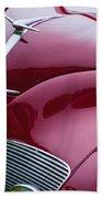 1938 Lincoln-zephyr Convertible Coupe Grille - Hood Ornament - Emblem Beach Towel