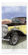 1939 Bentley Mark Four Sport Sedan Beach Towel