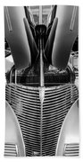 1939 Chevrolet Coupe Grille -115bw Beach Towel