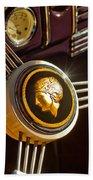 1939 Ford Standard Woody Steering Wheel Beach Towel