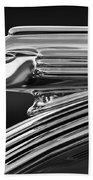 1939 Pontiac Silver Streak Hood Ornament 3 Beach Towel by Jill Reger