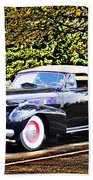 1940 Cadillac Coupe Convertible Beach Towel