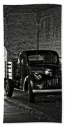 1940 Chevrolet Pickup Truck In Alcatraz Prison Beach Towel by RicardMN Photography