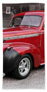 1940 Chevy Coupe Beach Towel