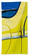 1940 Ford Deluxe Side Emblem Beach Towel