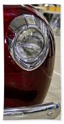 1940 Ford Front Left Light Beach Towel