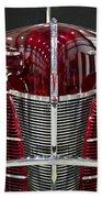 1940 Ford V8 Grill  Beach Towel