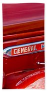 1940 Gmc Side Emblem Beach Towel