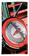 1941 Buick Eight Special Steering Wheel Emblem Beach Towel
