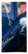 1941 Lincoln Continental Convertible Emblem Beach Towel