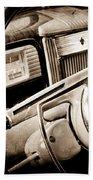 1941 Packard Steering Wheel Emblem Beach Towel