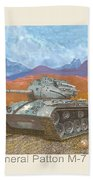 1941 W W I I Patton Tank Beach Towel