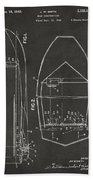 1943 Chris Craft Boat Patent Artwork - Gray Beach Towel