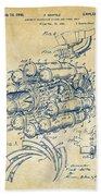 1946 Jet Aircraft Propulsion Patent Artwork - Vintage Beach Towel